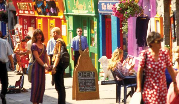 Galway City - Full of Colorful Shop Fronts & Cobbled Streets