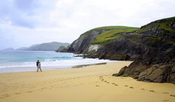 Walking on the beach on Dingle Bay, County Kerry