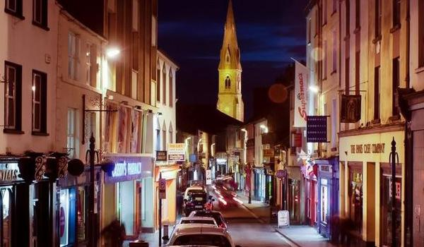 Ennis Town & Cathedral by night