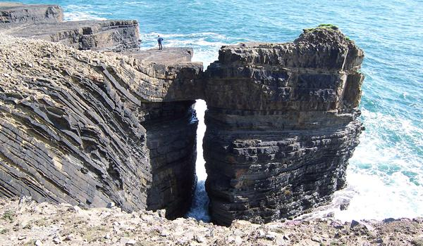 Sea Arch on the coast of County Clare