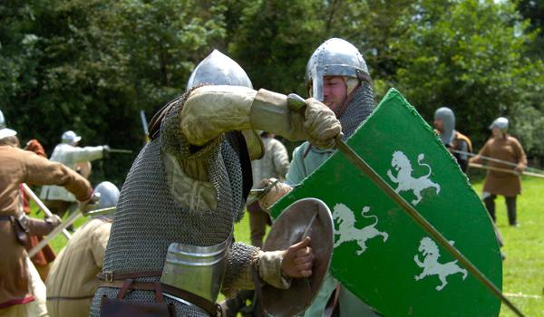 Renacted Battle in Medieval Bunratty