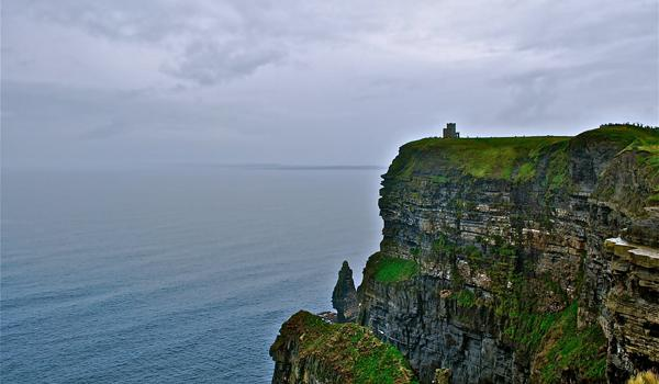 O Briens Castle perched on the edge of the Cliffs of Moher
