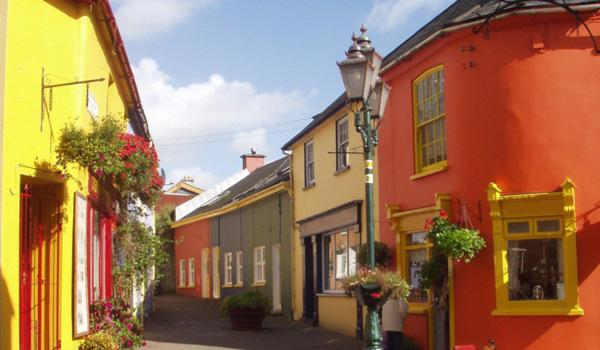 Vibrantly coloured Kinsale Streets