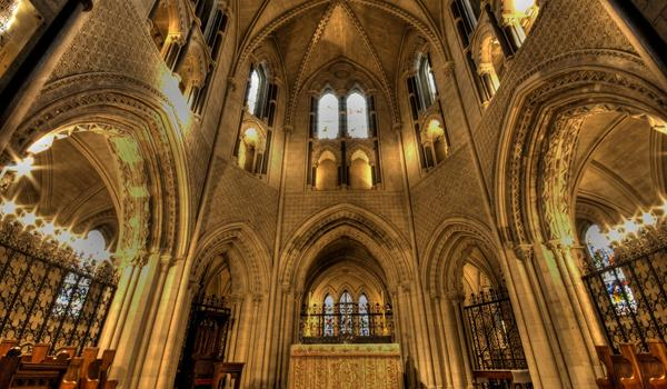 The interior of Christ Church Cathedral Dublin