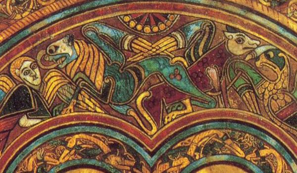 A page from the stunning Book of Kells on display at Trinity College