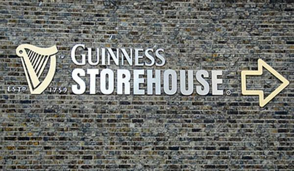 Entrance to the Guinness Storehouse