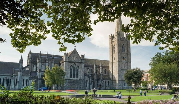 The Saint Patrick's Cathedral in Dublin is the largest church in Ireland.