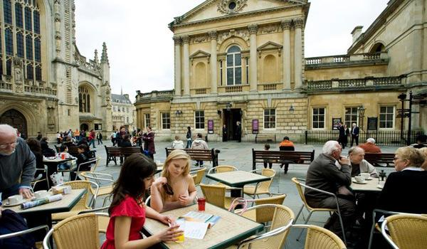Enjoying some refreshments in the famous City of Bath