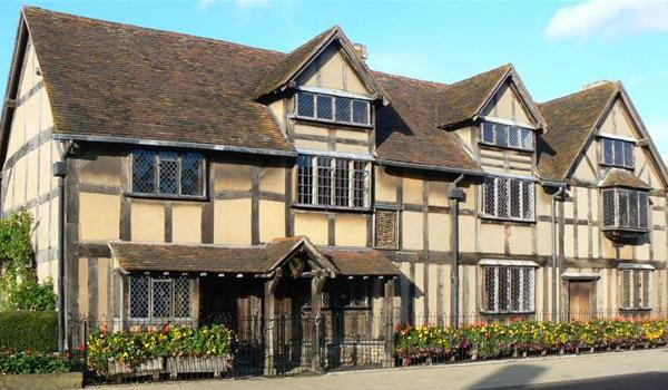 The Birthplace of William Shakespeare in Stratford-Upon-Avon