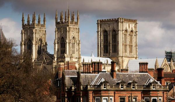 York Minster Gothic Cathedral in the City of York