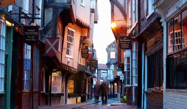 The Shambles, Charming Street of Leaning Houses in the City of York
