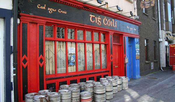 Galway Pub and kegs