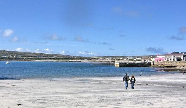 Walking on the beach in Inis Mor, Aran Islands
