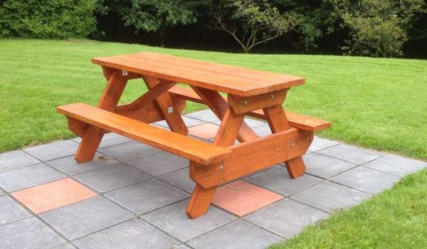 Charmette Picnic Table.  Enjoy you lunch admiring the expansive gardens.