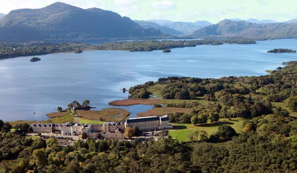 Lake Hotel View over Killarney Lakes