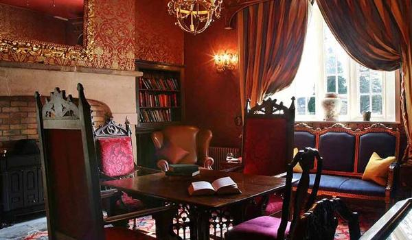 The Cozy Library at Lough Rynn Castle
