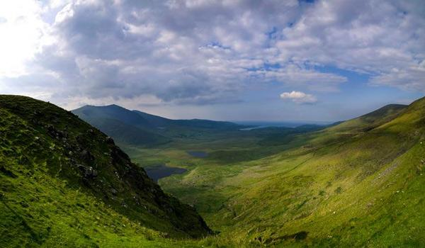 Beautiful Conor Pass on the Dingle Peninsula.