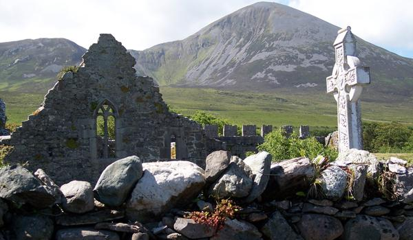 Murrisk Friary on Croagh Patrick, near Westport, County Westport