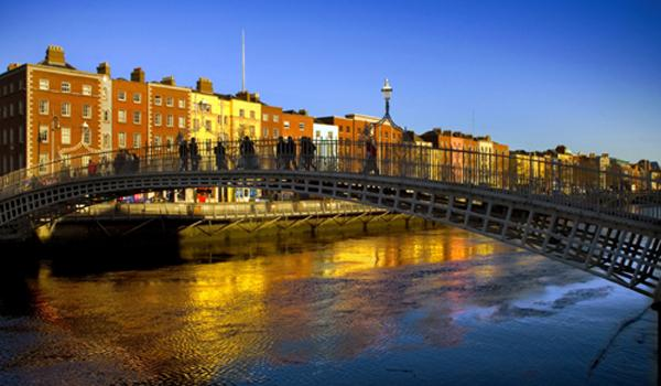 The Ha'Penny Bridge in Dublin City