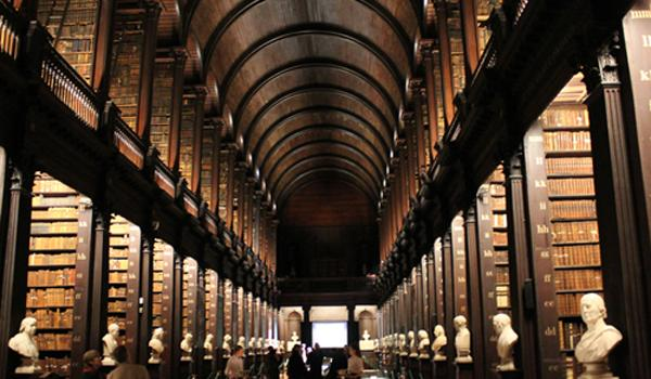 The Long Library at Trinity College Dublin