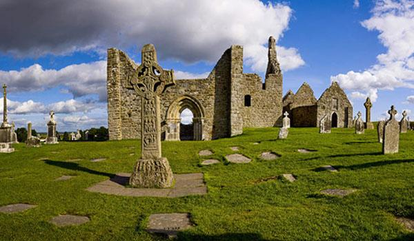 High Cross at Clonmacnoise - Early Monastic Site 8th Century
