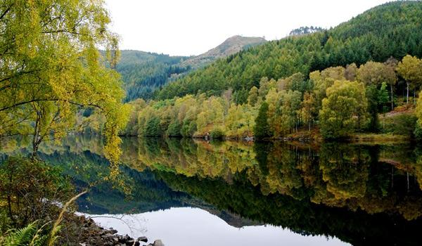 A peaceful loch in Cairngorms National Park