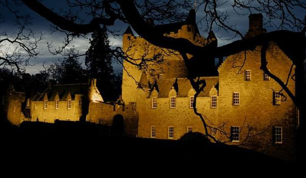 Cawdor Castle near Inverness by night