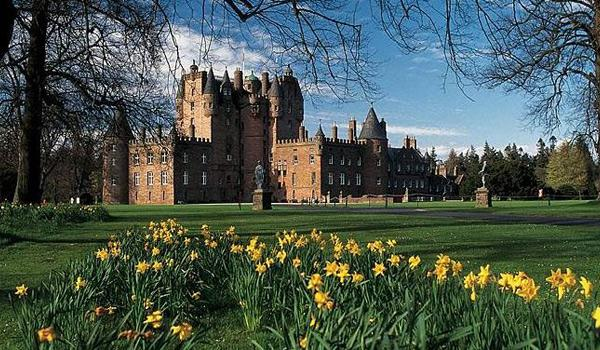 Glamis Castle north of Dundee