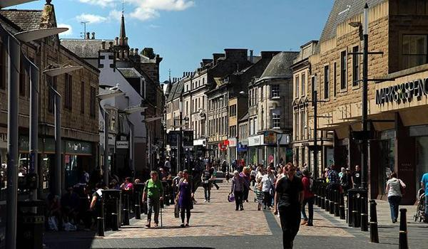 The bustling heart of Inverness