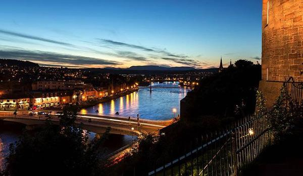 The City of Inverness at dusk