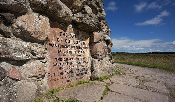 Marking the location of the Culloden Battlefield near Inverness.