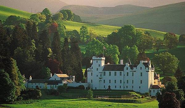 White Blair Castle near Pitlochry is a breathtaking sight!