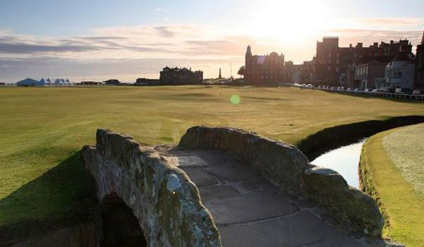 The famous Old Course at St Andrews - the 'Home of Golf'.