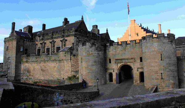 The grand entrance to Stirling Castle
