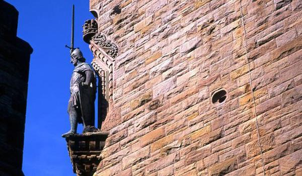 Detail on the Wallace Monument near Stirling
