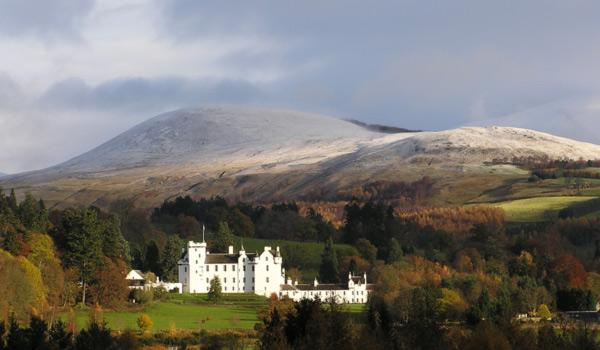 Blair Castle near Pitlochry, Scotland