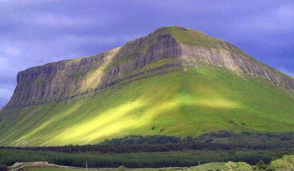 Benbulben Mountain in Sligo is steeped in Irish myth and legend