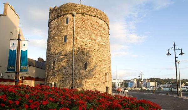 Famous Reginald's Tower in Waterford City.
