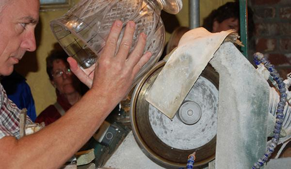 Artisans at work at the Waterford Crystal Factory