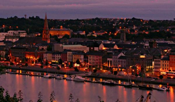 Waterford City at dusk