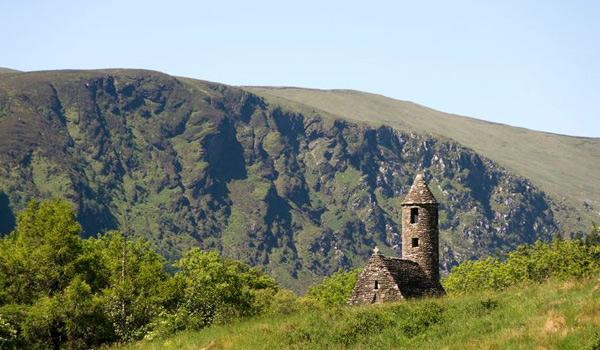 A Portion of the 6th Century Monastic Site is revealed at Stunning Glendalough.