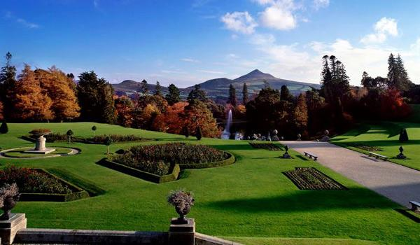 The Italian Lake at Powerscourt House in County Wicklow.