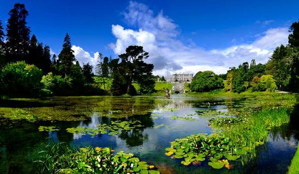 Triton Lake on the Grounds of the Powerscourt Estate in County Wicklow.