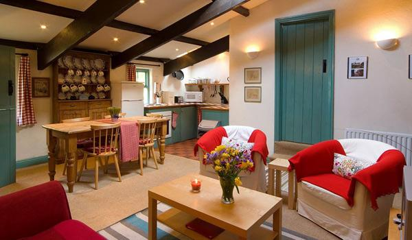 Inviting interior of a Grove House Cottage in Skibbereen, County Cork