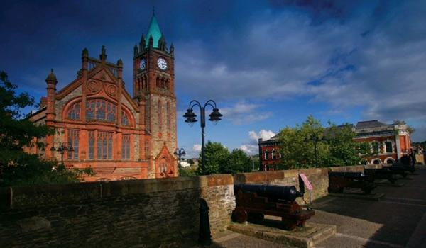 Derry's Guild Hall, viewed from the City Walls