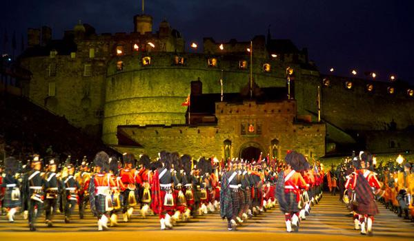 The Military Tattoo Festival at Edinburgh Castle