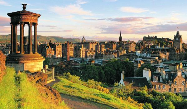 The Scenically Located City of Edinburgh