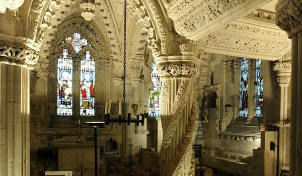 The stunningly detailed interior of Rosslyn Chapel