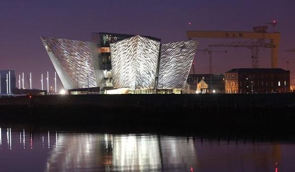 The impressive Titanic Belfast building - same height as the doomed ships hull