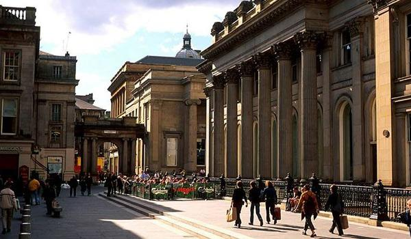 Outside the Gallery of Modern Art (GOMA) in Glasgow